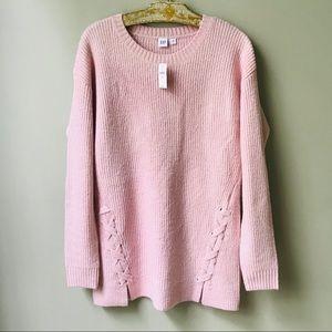Gap Pink Cozy Sweater Size Medium Tall New NWT
